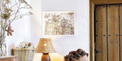 Wood, Room, Interior design, Door, Interior design, Carnivore, Lampshade, Lamp, Home accessories, Home,