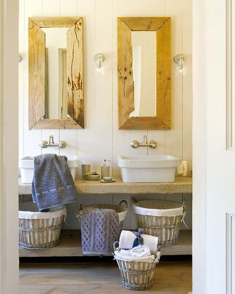 Room, Interior design, Wall, Interior design, Mirror, Porcelain, Basket, Bathroom sink, Home accessories, Storage basket,