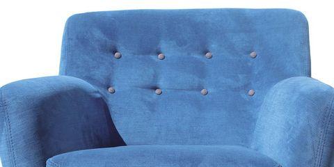Blue, Product, Furniture, Chair, Comfort, Black, Electric blue, Armrest, Club chair, Design,