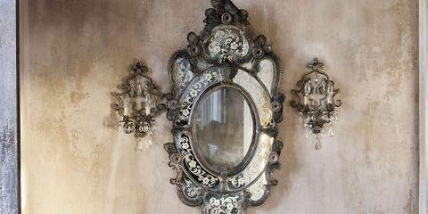 Room, Wall, Interior design, Mirror, Interior design, Basket, Still life photography, Wicker, Storage basket, Home accessories,