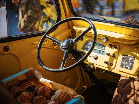 Motor vehicle, Steering part, Mode of transport, Steering wheel, Vehicle, Transport, Classic car, Classic, Vehicle door, Glass,