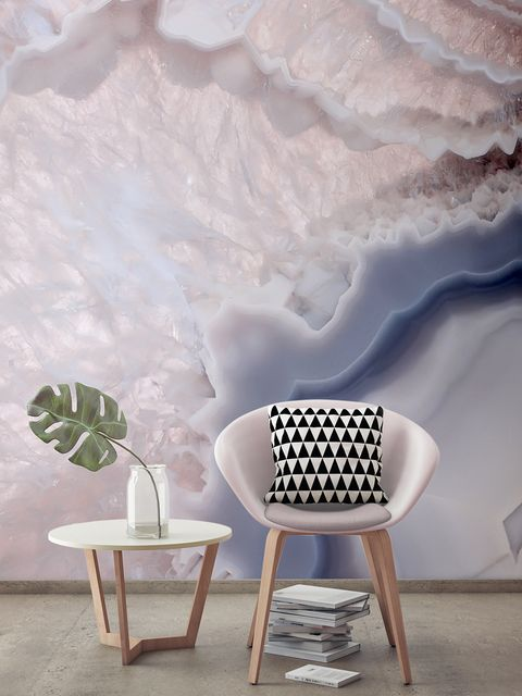 White, Wall, Furniture, Wallpaper, Chair, Room, Table, Design, Interior design, Cloud,