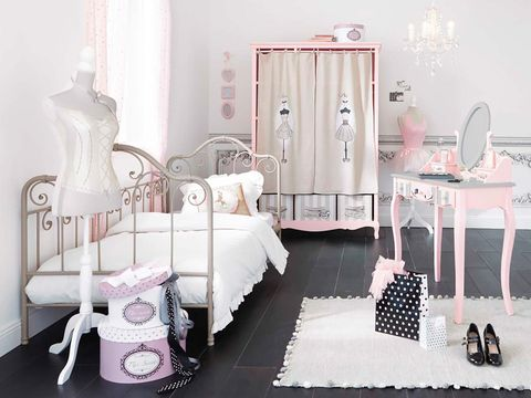 Furniture, Product, Room, Pink, Bed, Bedroom, Infant bed, Nursery, Interior design, Table,
