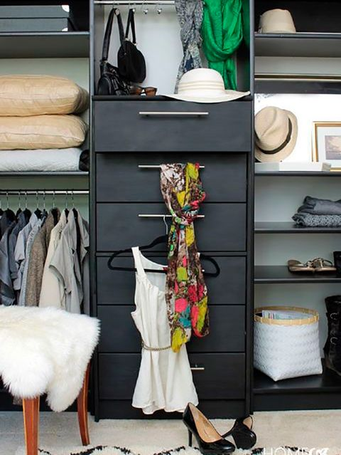 Shelf, Room, Closet, Furniture, Clothes hanger, Shelving, Interior design, Chest of drawers, Home, Wardrobe,