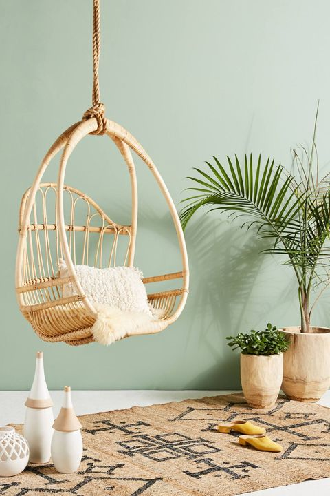 Swing, Product, Cage, Hammock, Furniture, Turquoise, Room, Interior design, Wicker, Twig,