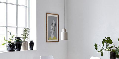 Flowerpot, Room, Floor, Furniture, Interior design, Table, Flooring, Interior design, Glass, Houseplant,