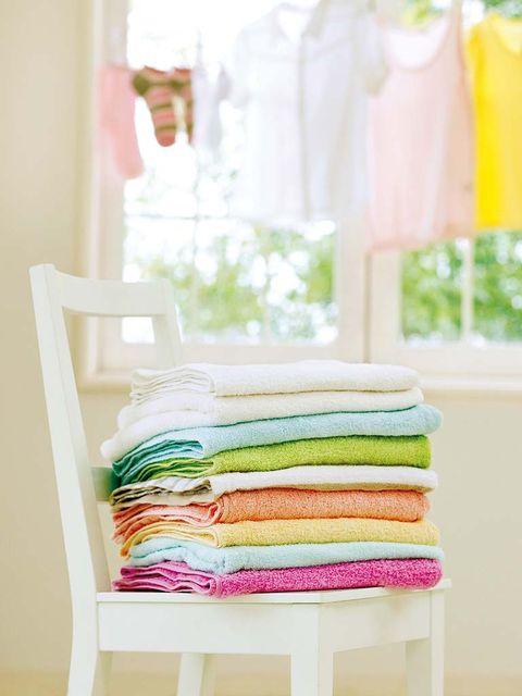Product, Green, Yellow, Textile, Linens, Teal, Peach, Towel, Home accessories,