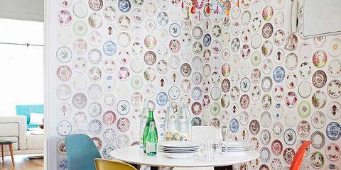 Wood, Floor, Room, Interior design, Yellow, Flooring, Furniture, Table, Textile, Chair,