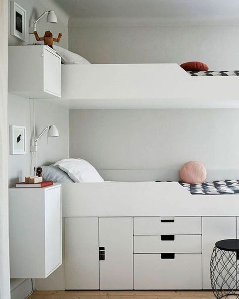 dormitorio infantil moderno con literas