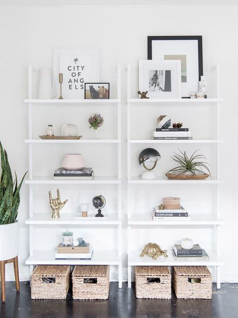Room, Interior design, White, Wall, Shelving, Grey, Interior design, Natural material, Design, Home,