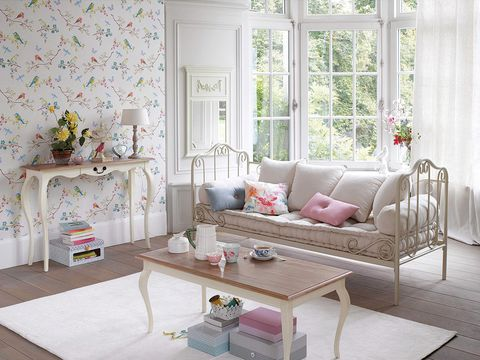 Furniture, Room, Living room, Interior design, Coffee table, Pink, Table, Property, Couch, Home,