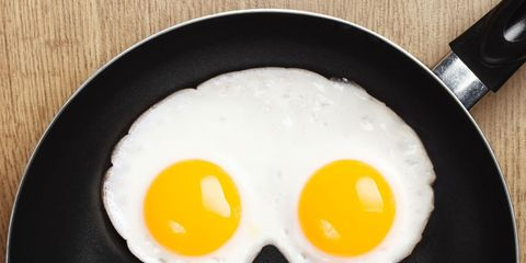 Fried egg, Food, Egg yolk, Ingredient, Meal, Breakfast, Dish, Egg white, Cuisine, Recipe,