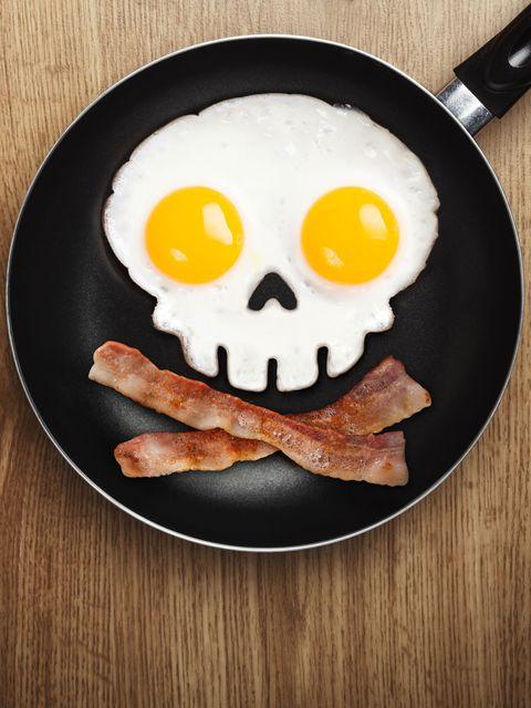 Fried egg, Food, Ingredient, Egg yolk, Meal, Cuisine, Breakfast, Dish, Recipe, Cooking,