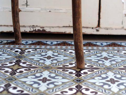 Flooring, Pattern, Visual arts, Motif, Tile flooring, Tile,