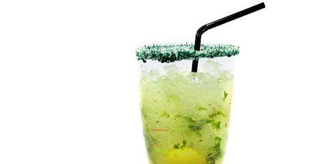 Drink, Liquid, Lemon, Tableware, Cocktail, Citrus, Alcoholic beverage, Fruit, Cocktail garnish, Ingredient,