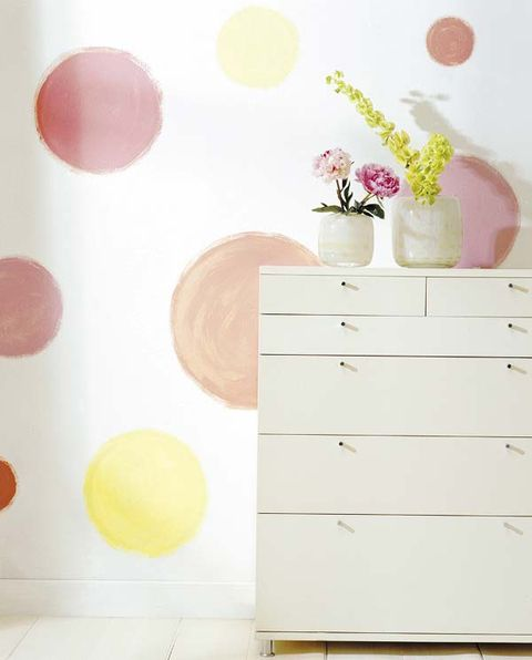 Wood, Chest of drawers, Wall, Peach, Room, Pink, Flowerpot, Drawer, Dresser, Lavender,