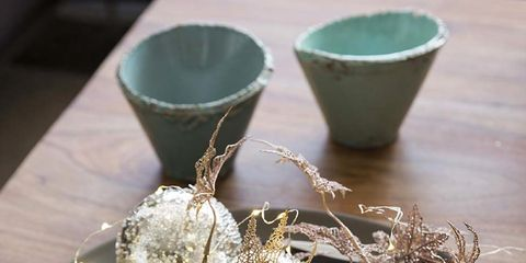 Teal, Serveware, Dishware, Turquoise, Natural material, Silver, Pottery, Flowerpot, Still life photography, earthenware,