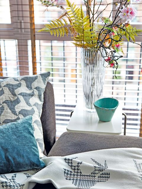 Branch, Interior design, Textile, Twig, Room, Linens, Interior design, Teal, Home, Turquoise,