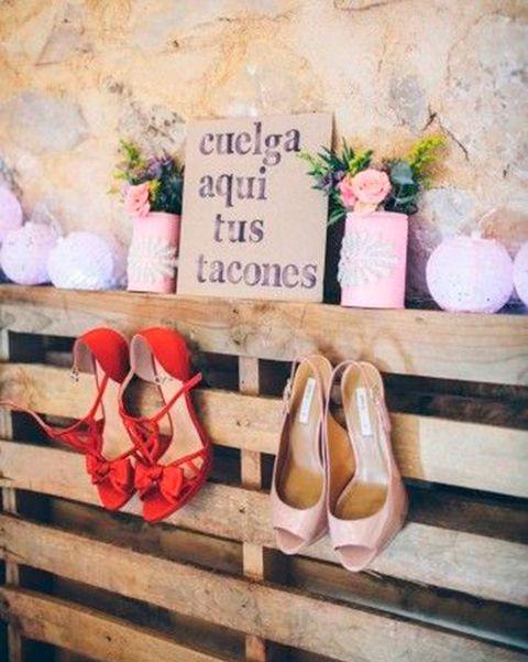 bodas palé para los zapatos de tacón