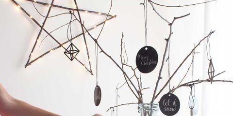 Decoración navideña: Árbol con ramas
