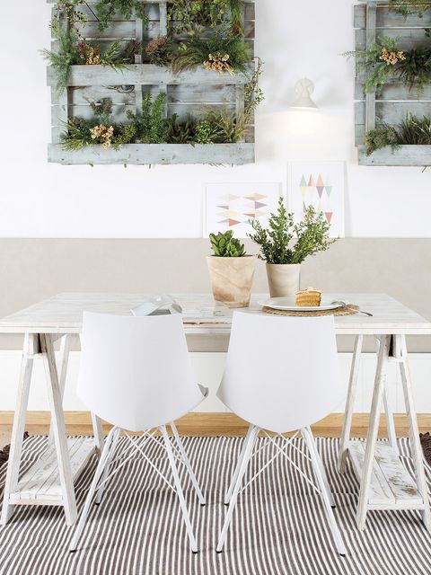 White, Furniture, Table, Room, Chair, Dining room, Interior design, Branch, Textile, Tablecloth,