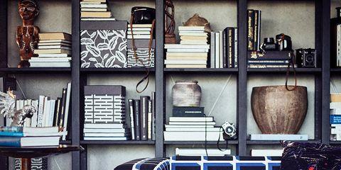Iron, Blue, Furniture, Room, Design, Pattern, Shelf, Window, Metal, Table,