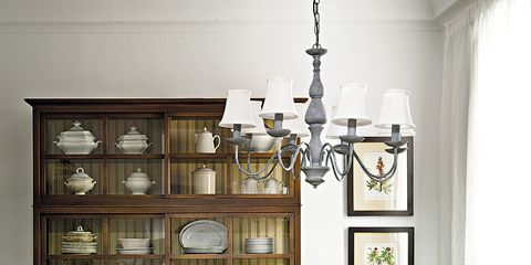 Room, Wood, Furniture, Interior design, Table, Shelf, Light fixture, Shelving, Interior design, Dining room,