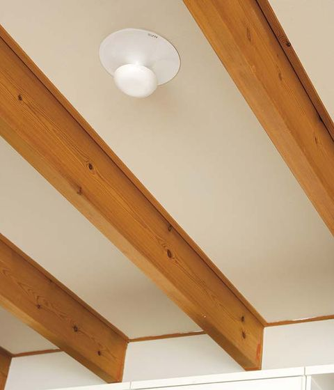 Wood, Room, Wood stain, Ceiling, Hardwood, Wall, Pattern, Tan, Plywood, Light fixture,