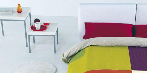 Yellow, Red, Textile, Room, Orange, Interior design, Carmine, Colorfulness, Linens, World,