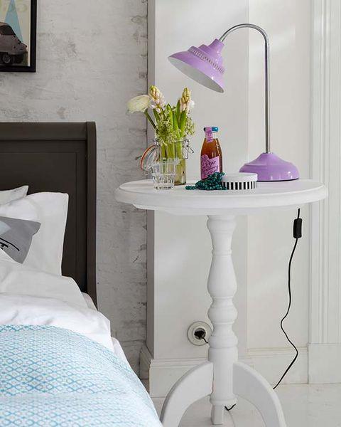 Room, Purple, Glass, Interior design, Linens, Lavender, Violet, Teal, Grey, Aqua,