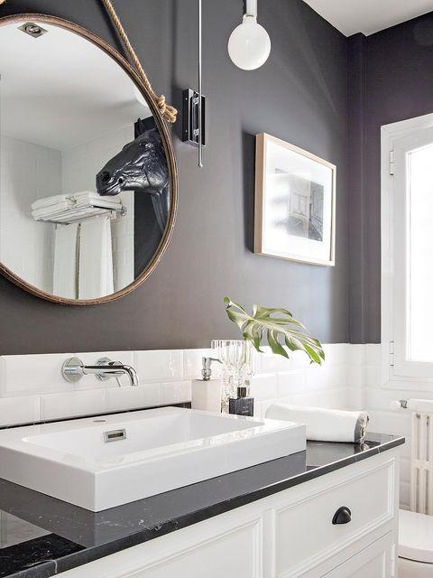 Room, Interior design, Plumbing fixture, Property, Architecture, Bathroom sink, Wall, White, Tap, Interior design,