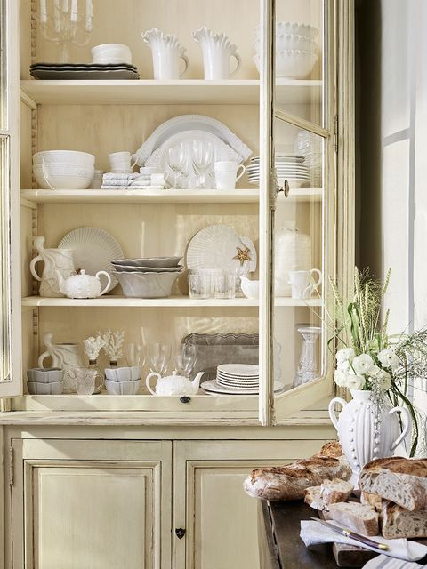 Serveware, Dishware, White, Shelving, Shelf, Porcelain, Beige, Hutch, Ivory, Collection,