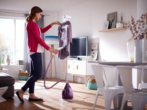 Room, Floor, Flooring, Serveware, Interior design, Luggage and bags, Purple, Bag, Dishware, Interior design,
