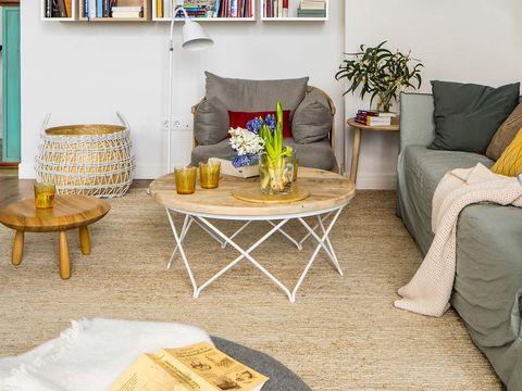 Room, Interior design, Furniture, Table, Shelf, Living room, Couch, Shelving, Home, Interior design,