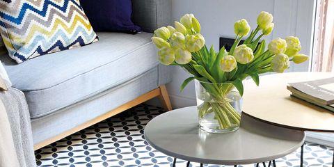 Interior design, Room, Floor, Table, Furniture, White, Flooring, Interior design, Petal, Home,