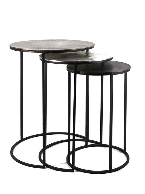 White, Table, Line, Black, Grey, Rectangle, Material property, Design, End table, Silver,
