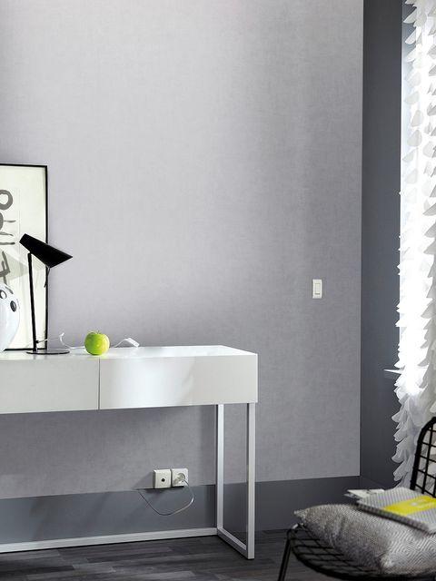 salón con las paredes en gris