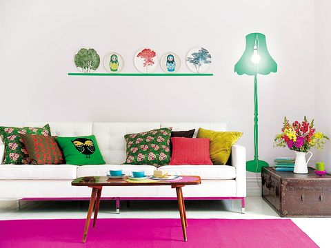 Green, Room, Interior design, Furniture, Living room, Wall, White, Couch, Interior design, Home,