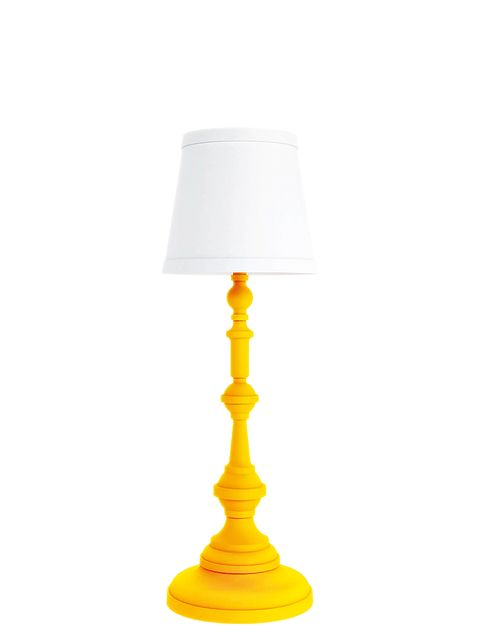 Yellow, Lampshade, Lamp, Lighting accessory, Amber, Light fixture, Grey, Tints and shades, Metal, Material property,