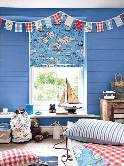 Blue, Room, Interior design, Textile, Floor, Flooring, Furniture, Wall, Turquoise, Home,
