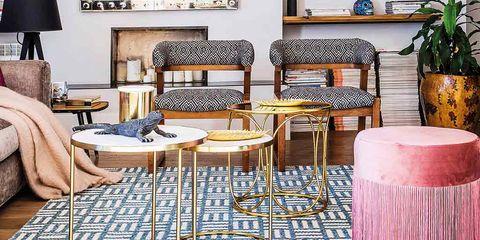 Living room, Furniture, Room, Interior design, Home, Floor, Table, Coffee table, Flooring, Building,