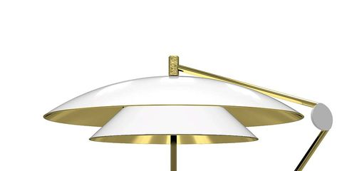 Lamp, Light fixture, Table, Lighting, Brass, Furniture, Lampshade, Metal, Lighting accessory, Shade,