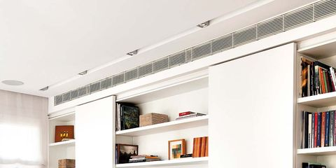 Shelf, Shelving, Furniture, Living room, White, Room, Bookcase, Interior design, Building, Property,