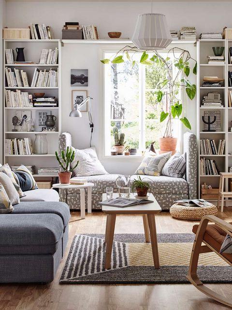 Room, Interior design, Home, Shelf, Living room, Furniture, Wall, White, Shelving, Floor,