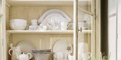 Serveware, Dishware, White, Room, Porcelain, Shelving, Interior design, Shelf, Interior design, Beige,
