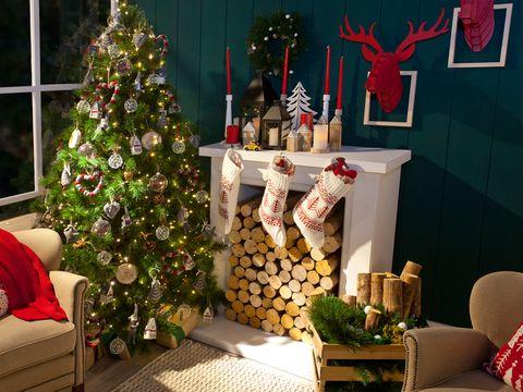 Interior design, Event, Room, Christmas decoration, Interior design, Christmas ornament, Holiday, Christmas tree, Christmas eve, Christmas,