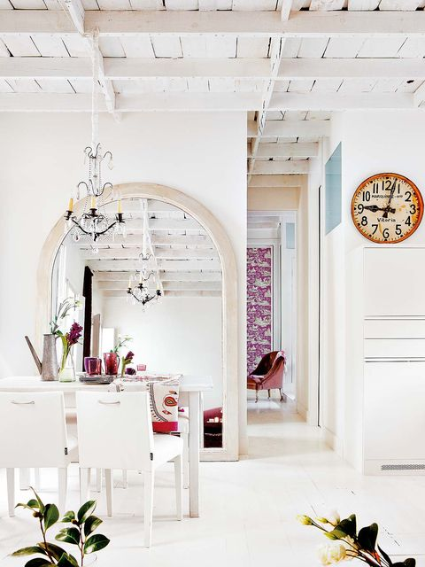 White, Interior design, Room, Pink, Furniture, Arch, Architecture, Building, Design, Material property,