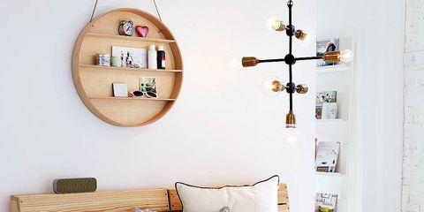Wood, Room, Interior design, White, Furniture, Wall, Pillow, Interior design, Cushion, Beige,
