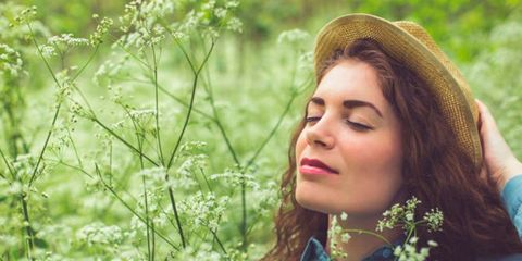 People in nature, Hair, Green, Nature, Beauty, Grass, Lip, Spring, Botany, Sunlight,