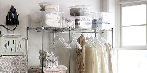 Window, Room, Interior design, Fixture, Clothes hanger, Grey, Daylighting, Shelving, Home accessories, Shelf,
